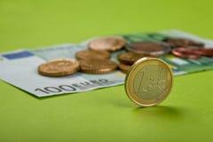 Euro monete Immagini Stock