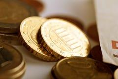 Euro monete Fotografia Stock Libera da Diritti