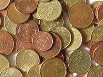 Euro monete Immagine Stock
