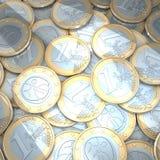 Euro monete brillanti Immagine Stock