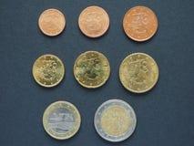 Euro monete dalla Finlandia Immagini Stock Libere da Diritti