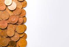 Euro monete della denominazione differente liberate dalla Lettonia fotografie stock