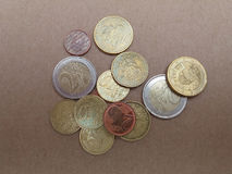 Euro monete di EUR Immagini Stock Libere da Diritti