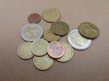 Euro monete di EUR Fotografia Stock Libera da Diritti