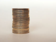 Euro monete di EUR, Unione Europea UE Immagine Stock Libera da Diritti