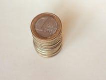Euro monete di EUR, Unione Europea UE Immagini Stock