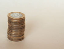 Euro monete di EUR, Unione Europea UE Immagine Stock