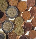 Euro monete di EUR, Unione Europea UE Fotografie Stock Libere da Diritti