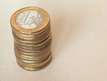 Euro monete di EUR, Unione Europea UE Fotografie Stock