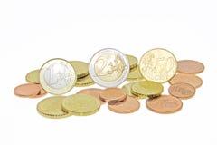 Euro monety Zdjęcie Stock