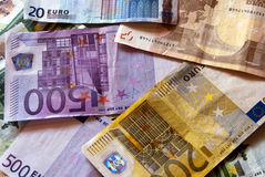 Euro money. Euro bills for background use stock photos