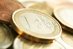 EURO money. A close up taken with a macro lens Royalty Free Stock Photos