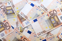Euro money. A lot of money(euro bank-notes Royalty Free Stock Photo