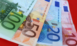Euro money. Close up of colorful euro money 100 50 20 and 10 Royalty Free Stock Photo