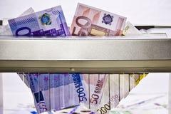 EURO / Money. European Money, destroyed by shredder Stock Photo