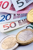 Euro money. Coins and papers royalty free stock photography