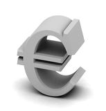 Euro money. Euoropean union money symbol with soft shadow Stock Photo
