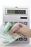Euro money. Spending explode, and everything is more expensive Stock Photography