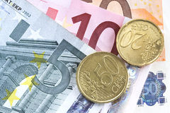 Euro money. Some kind of euro in background Royalty Free Stock Photo