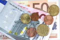 Euro money. Some kind of euro in background Royalty Free Stock Image