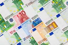 Euro money background. Euro money banknotes - abstract business background Royalty Free Stock Images