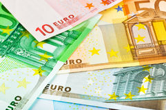 Euro money background. Euro money banknotes - abstract business background Royalty Free Stock Photo