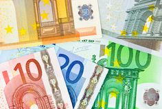 Euro money background Royalty Free Stock Photography
