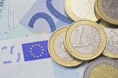 Euro money (background) Royalty Free Stock Photos