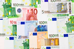 Euro money background. Euro money banknotes - abstract business background Royalty Free Stock Photos
