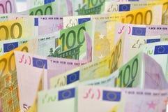 Euro money background. Royalty Free Stock Photos