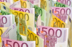 Euro money background. Royalty Free Stock Photos