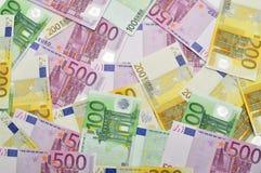 Euro money background. Royalty Free Stock Photo