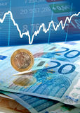 Euro money background Stock Photos