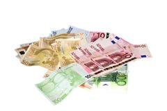 Euro money. Background of euro money 100 50 20 10 5 Royalty Free Stock Images