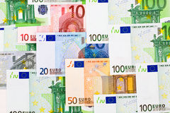 Euro money background. Euro money banknotes - abstract business background Stock Images