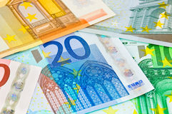 Euro money background Stock Image