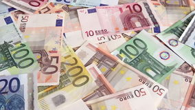 Euro money background stock video footage