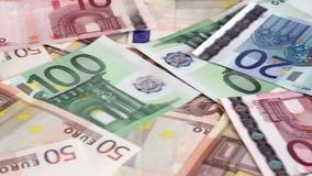 Euro money background stock footage