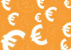Euro money background design Stock Photos