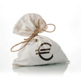 EURO money bag Royalty Free Stock Image