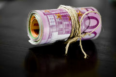 Euro money - bank notes Stock Photos