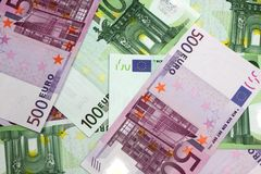 Euro money banknotes Royalty Free Stock Images