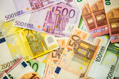 Euro Money Banknotes as background Royalty Free Stock Image