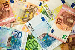 Euro Money Banknotes as background Royalty Free Stock Images