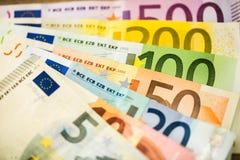 Euro Money Banknotes as background Stock Photos