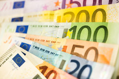 Euro Money Banknotes as background Royalty Free Stock Photos