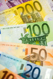 Euro Money Banknotes as background Stock Photography