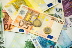 Euro Money Banknotes as background Stock Images