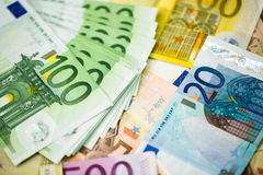 Euro Money Banknotes as background Stock Image