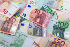 Euro Money Banknotes. On Background Stock Photography